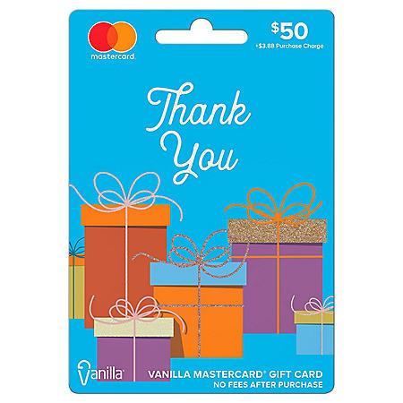 $50 Vanilla Mastercard Gift Card - Thank You