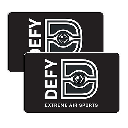 Defy Extreme Air Sports $50 Value Gift Cards - 2 x $25