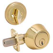 Hardware House Single Cylinder Deadbolt w/ Polished Brass finish