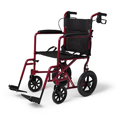 Aluminum Transport Wheelchair with 12.5