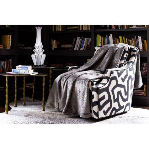 Fraiche Maison Hot Pressed Velvet Plush Blanket, French Roast