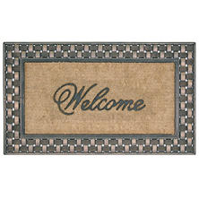 Bacova Koko Framed Basketweave Welcome Estate Mat