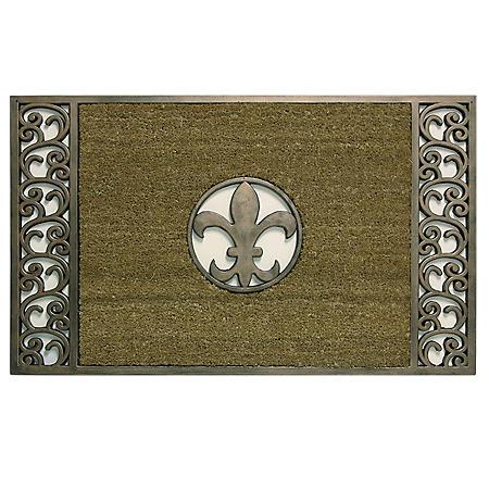 Bacova Koko Framed Bronze Fleur de Lis Estate Mat