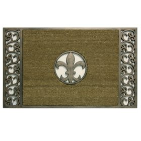 Bacova Koko Framed Bronze Fleur de Lis Estate Mat
