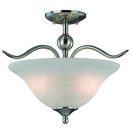 Hardware House Dover 2-Light Semi Flush Mount