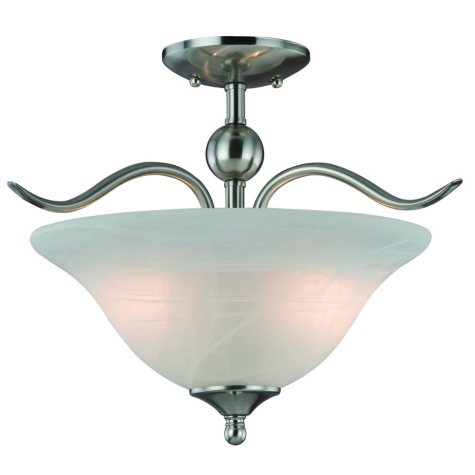 Hardware House Dover 2-Light Semi Flush Mount
