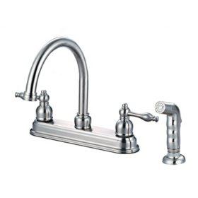 Hardware House 2-Handle Bismark Kitchen Faucet w/ Sprayer