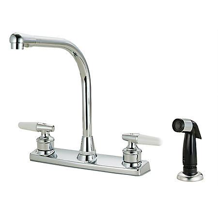 Hardware House 2-Handle Kitchen Faucet w/ Sprayer