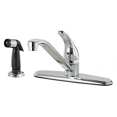 Hardware House Single Handle Kitchen Faucet w/ Sprayer