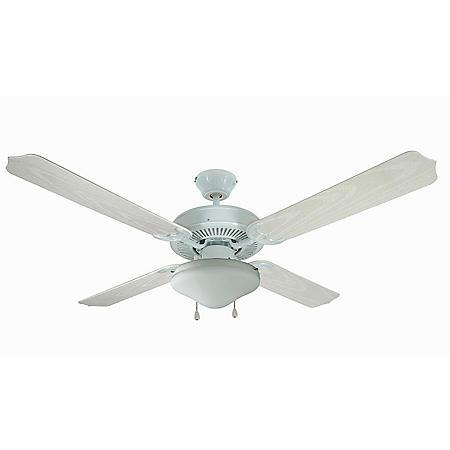 "Hardware House Jamaica 52"" Wet Ceiling Fan - White Finish"