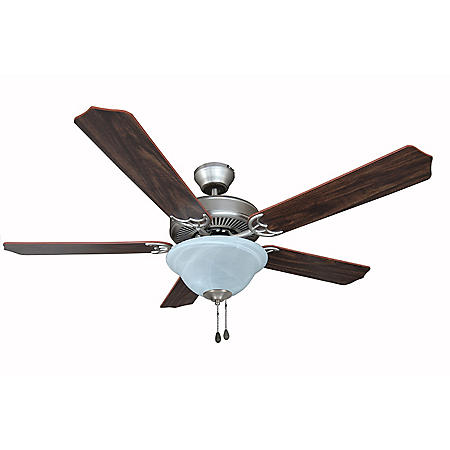 "Hardware House Dover 52"" Ceiling Fan - Satin Nickel"