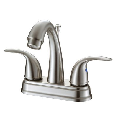 Hardware House 2 Handle Bathroom Faucet   Brushed Nickel