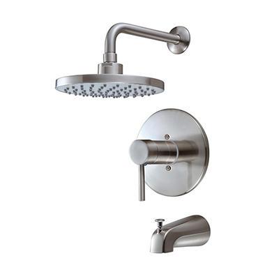 Hardware House Single Handle Tub Shower Mixer Brushed Nickel