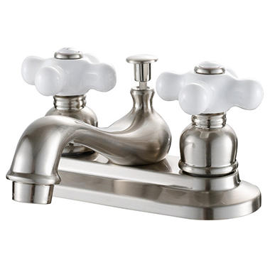Hardware House 2 Handle Bathroom Faucet - Satin Nickel