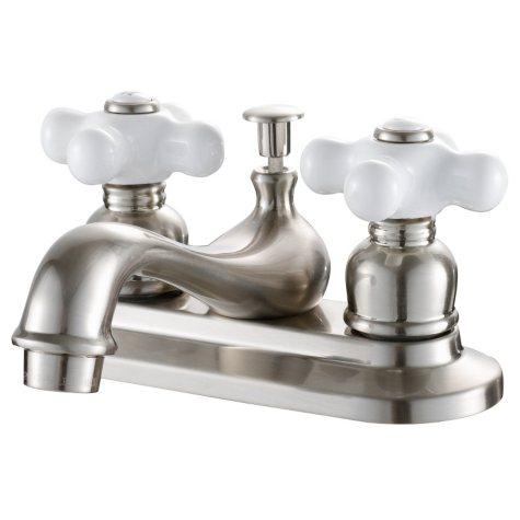 Hardware House 2 Handle Bathroom Faucet - Satin Nickel