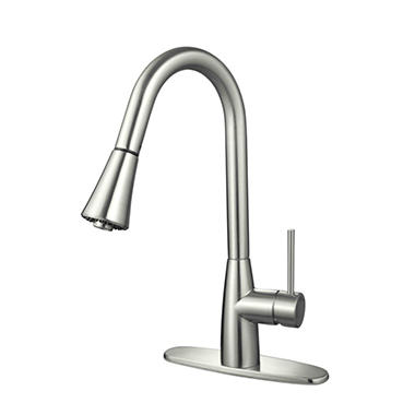 Merveilleux Hardware House Single Handle Gooseneck Kitchen Faucet With Sprayer