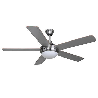 Hardware house riverchase 52 dual mount ceiling fan satin nickel hardware house riverchase 52 mozeypictures Image collections