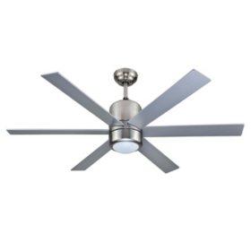 "Hardware House Horizon 48"" Triple Mount Ceiling Fan - Satin Nickel"