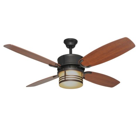 "Hardware House Santa Fe 52"" Triple Mount Ceiling Fan - English Bronze"