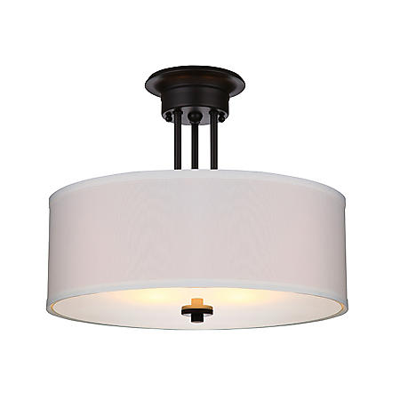 Hardware House Lexington Semi-Mount Ceiling Light Fixture - Oil-Rubbed Bronze