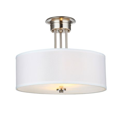 Hardware House Lexington Semi-Mount Ceiling Light Fixture - Satin Nickel