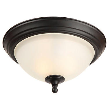 Hardware House Galveston Flushmount Ceiling Light Fixture - Black