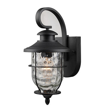 Hardware House Lantern With Dusk To Dawn Light Control Textured Black