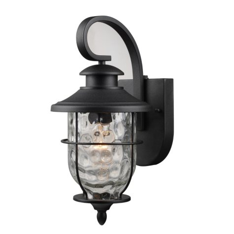 Hardware House Lantern with Dusk-to-Dawn Light Control - Textured Black