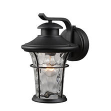 Hardware House Wall-Mounted Dusk-to-Dawn LED Lantern - Textured Black