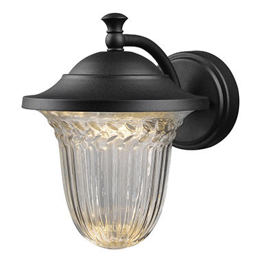 Hardware House Large LED Lantern with Crystalline Glass - Textured Blackl