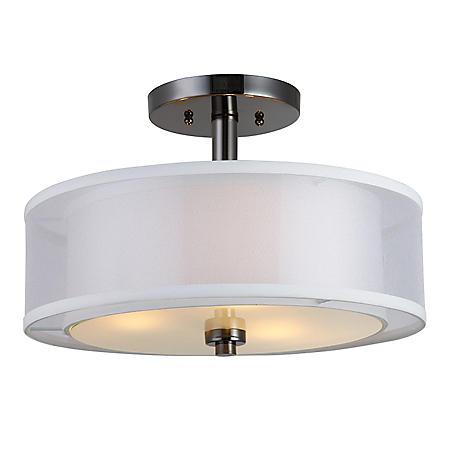 Hardware House El Dorado Semi-Flush Ceiling Light Fixture - Ebony Glaze