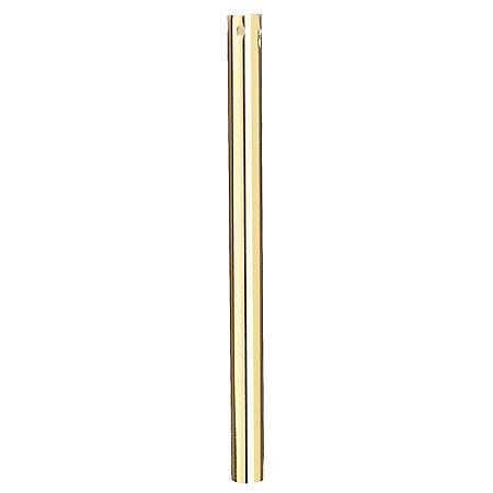 "Hardware House 21MM x 18"" Polished Brass Downrod"