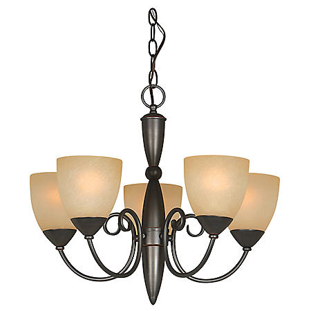 Hardware House Berkshire 5-Light Chandelier - Classic Bronze