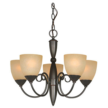 Hardware House Berkshire 5-Light Chandelier - Classic Bronze