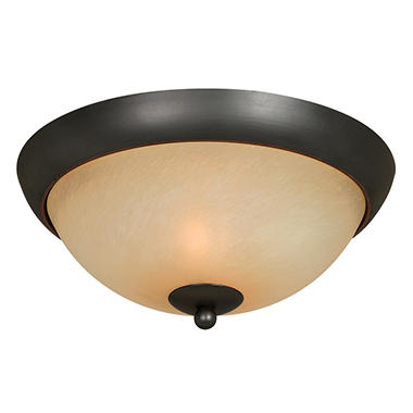 Hardware House Berkshire Flush Mount Ceiling Fixture - Classic Bronze