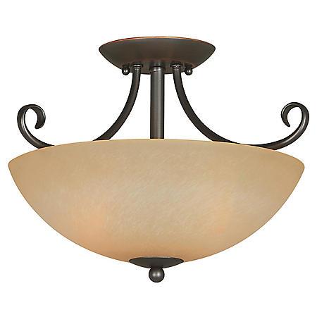 Hardware House Berkshire 2-light Semi-Flush Ceiling Fixture - Classic Bronze