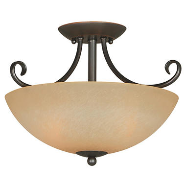 Hardware House Berkshire 2-light Semi-Flush Ceiling Fixture - Classic Bronze