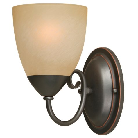 Hardware House Berkshire 1-Light Bath/Wall Light - Classic Bronze