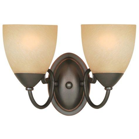 Hardware House Berkshire 2-light Bath/Wall Light - Classic Bronze