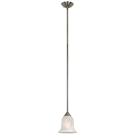 Hardware House 1 LT Saturn Pendant - Satin Nickel