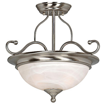 Hardware House Saturn 2-Light Semi Flush Light