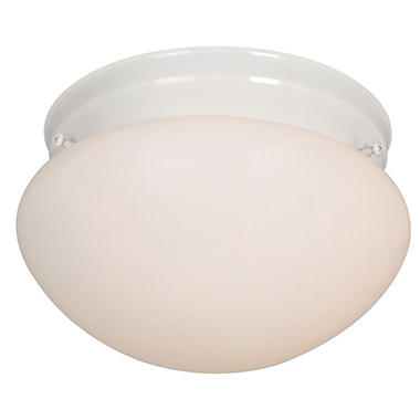 Hardware House 1-Light Ceiling Fixture - White