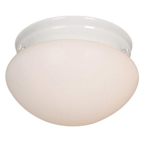 Hardware House 1-Light Ceiling Fixture - White