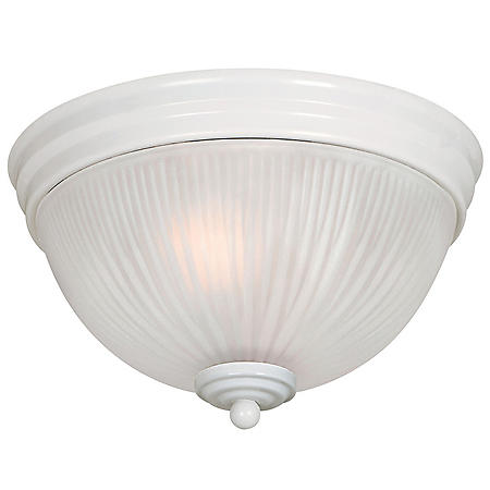 Hardware House 2-Light Ceiling Fixture - White