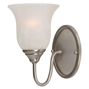 Hardware House 1 LT Saturn Wall Light - Satin Nickel