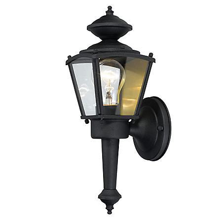 Hardware House Outdoor Square Coach Lantern - Textured Black