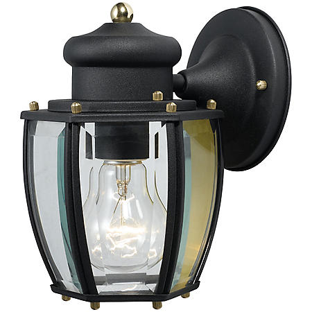Hardware House Outdoor Wall Lantern - Textured Black