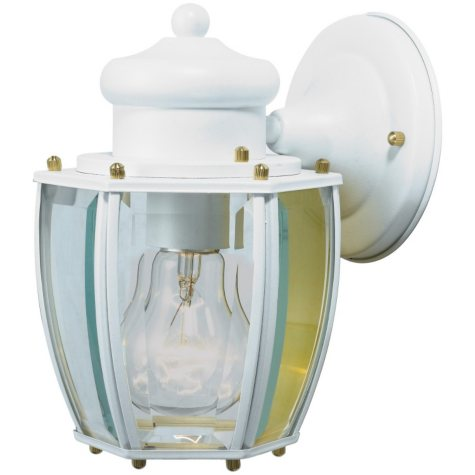 Hardware House Outdoor Wall Lantern - Textured White