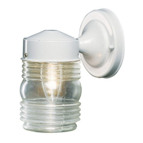Hardware House Outdoor Jelly Jar Light - White