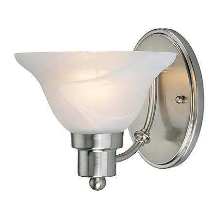 Hardware House Bristol 1-Light Bath/Wall Light -  Brushed Nickel
